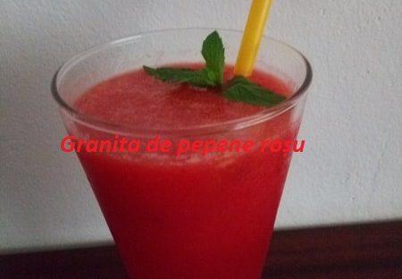 Granita de pepene rosu